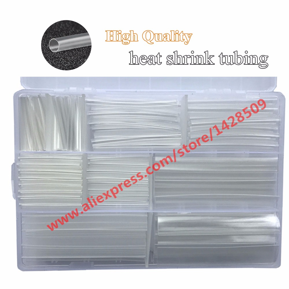 цена на 385pcs high quality transparent colour heat shrinkable tube 2:1 heat shrink tubing heat Tube Sleeve Wrap Cable Wire free ship