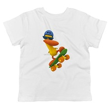 Pato Pocoyo-Toddlers Skateboardinger T-shirt(China)