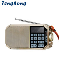 Tenghong Mini Portable Stereo FM Radio Bluetooth Wireless Rechargeable Receiver TF Card USB MP3 Music Player Audio Speaker Radio