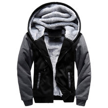2019 New Men Jacket Winter Thick Warm Fleece Zipper Men Jacket Coat Sportwear Male Streetwear Winter Jacket Men 4XL5XL(China)
