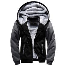 2020 New Men Jacket Winter Thick Warm Fleece Zipper Men Jacket Coat Sportwear Male Streetwear Winter Jacket Men 4XL5XL