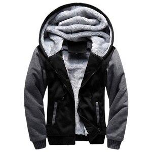 Image 1 - 2020 New Men Jacket Winter Thick Warm Fleece Zipper Men Jacket Coat Sportwear Male Streetwear Winter Jacket Men 4XL5XL