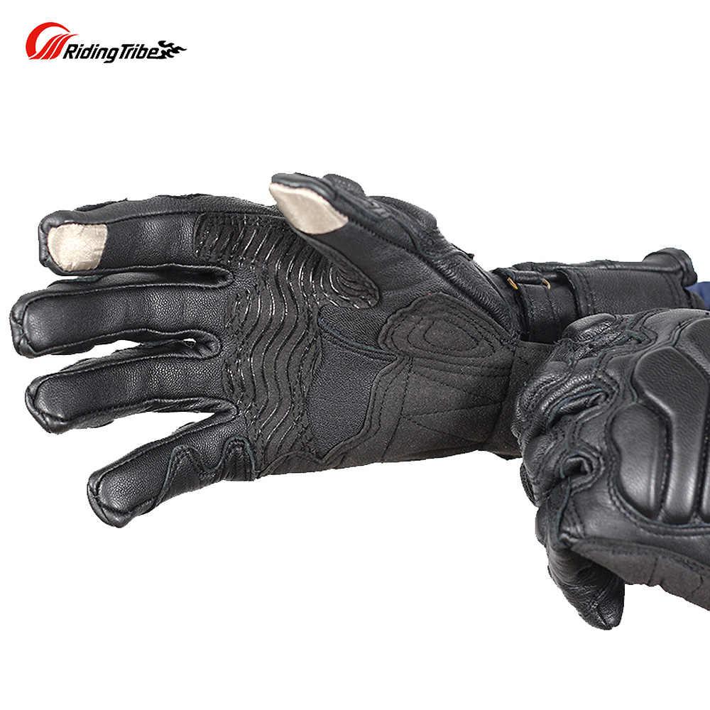 乗馬部族ゴートスキン本革のオートバイの手袋冬の保護モーターサイクリストバイクライダー Moto レーシング Guante MCS-36