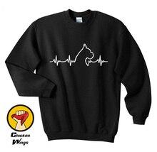 Boxer dog heartbeat Unisex Sweatshirt Dog lovers gift idea | Boxer dog | Heartbeat design | Parcel WILL NOT arrive in time-A982 татуировка переводная heartbeat