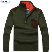 Men's pullover pullovers, thickened and fleeced fleece sweaters, loose knitwear, high quality, free shipping