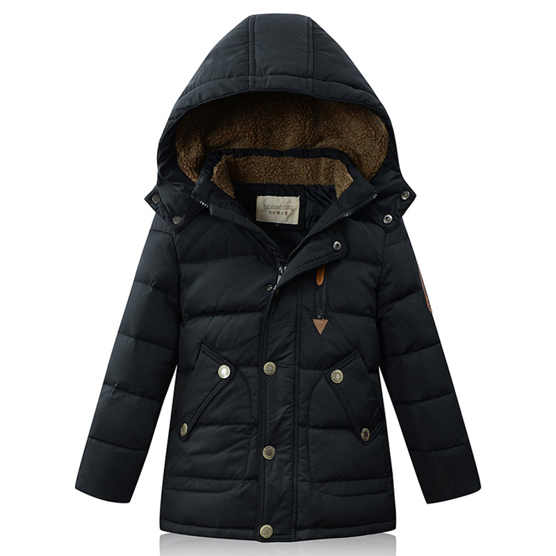 2017 New Arrival Children Duck Down Coat Big Boy Parka Coat Thick Warm Winter Outerwears Jacket Snow Wear 5-13Y DQ091 цены