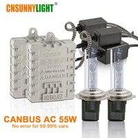 CNSUNNYLIGHT Canbus 55 W Araç Xenon Işıklar H7 H1 H11 H8 HB3 HB4 9005 9006 4300 K 6000 K Süper Parlak Hata Otomatik Xenon Lambalar