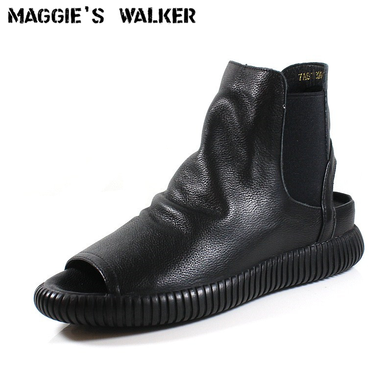 Maggie's Walker Women's Genuine Leather Fashion Cut out Summer Boots Autumn Casual Multi functional Ankle Boots Size 35~39