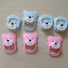 Free Shipping Blue/Pink Magnet Pacifier For Reborn Silicone Baby Doll Hot Accessories To DIY Alive Silicone Baby Doll Best Gift