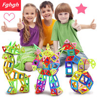 110pcs Mini Magnetic Designer Construction Set Model Building Toy Plastic Magnetic Blocks Educational Toys For Kids