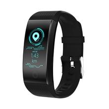 цены на Fitness Bracelet QW18 Smart Band Pedometer Wristband Heart Rate Monitor Sport Waterproof Tracker Intelligent Clock PK Mi Band 3  в интернет-магазинах