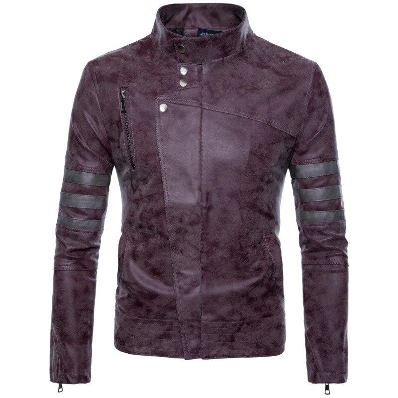 Mens Irregular Zipper Frosted PU man mens designer Leather coats men fashion jackets