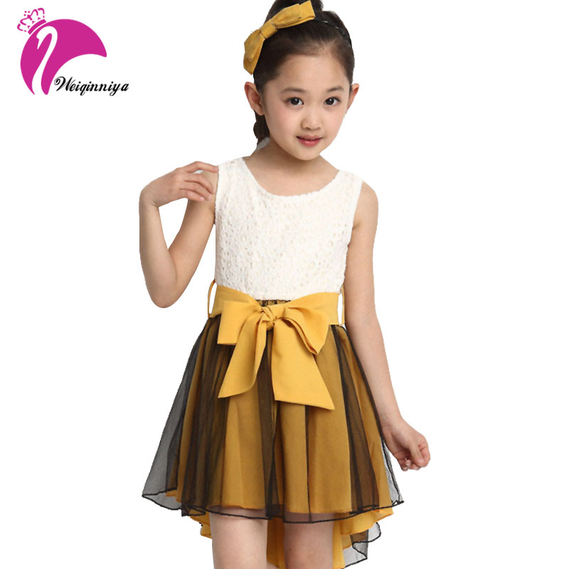 New Brand Style 2016 Baby Girls Dress Summer Fashion Mermaid Kids Dresses Sleeveless Casual Lace Vestido Infantil Girls Clothes summer girls florwer dresses new design 2016 casual cotton sleeveless kids clothes lovely party vest dress infantil vestido hot