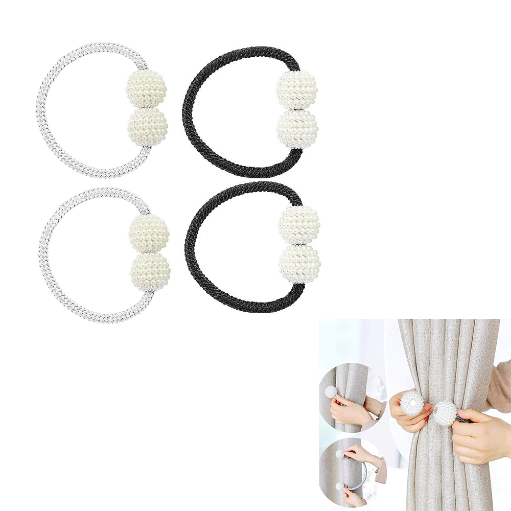Permalink to 2pcs Hot Curtain Buckles Newest Magnetic Pearl Ball Curtain Tiebacks Backs Holdbacks Buckle Clips Curtain Decorative Accessories