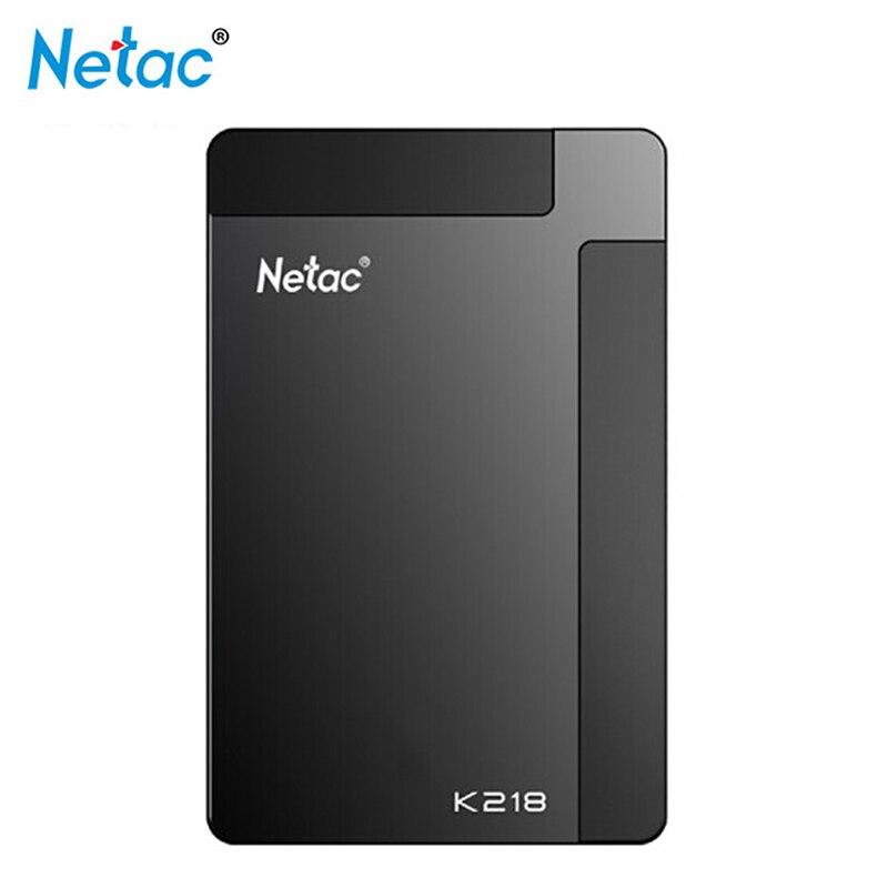 Netac K218 USB 3.0 HDD 1 to 2 to lecteur Flash 2.5 pouces disque dur Portable externe LED lecteur pour Windows Mac système 5400 tr/min
