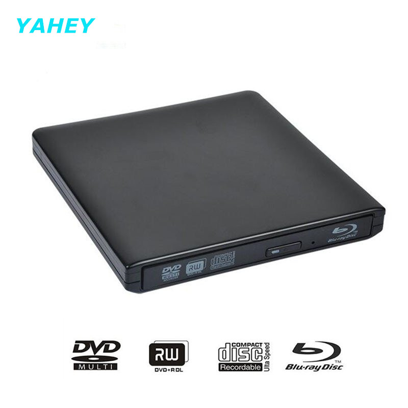 ФОТО Bluray USB 3.0 External DVD Optical Drive Blu-ray Combo BD-ROM 3D Player CD/DVD-RW Burner Writer Recorder for Laptop Computer pc