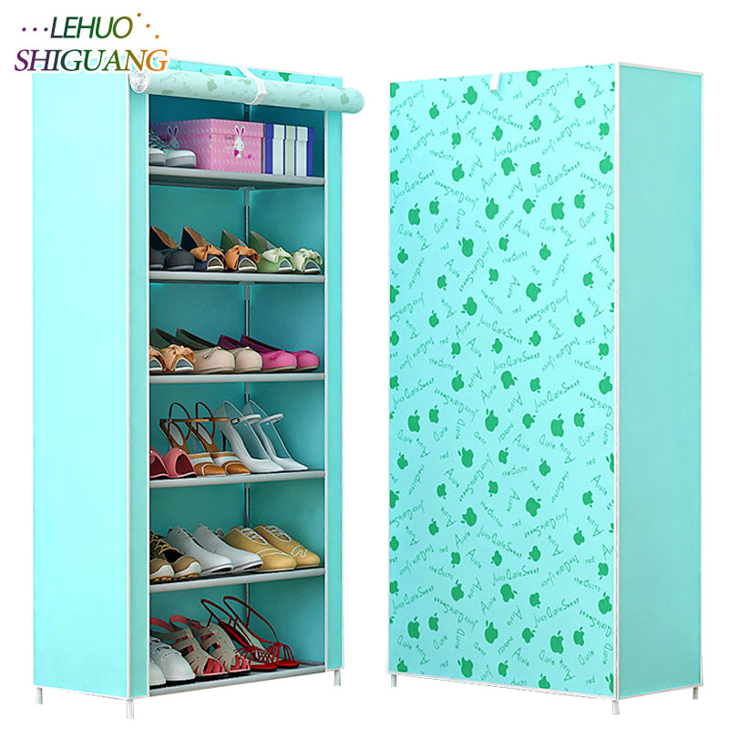 Shoe rack 7-layer 6-grid Multi Color Non-woven fabrics shoe cabinet shoe organizer removable shoe storage for home furniture