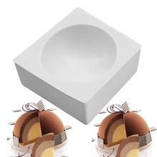 1PCS Silicone Molds Round Cake Mold For Baking DessertIce-Creams Mousse Mould Cakes Decorating Tools Bakeware Pan