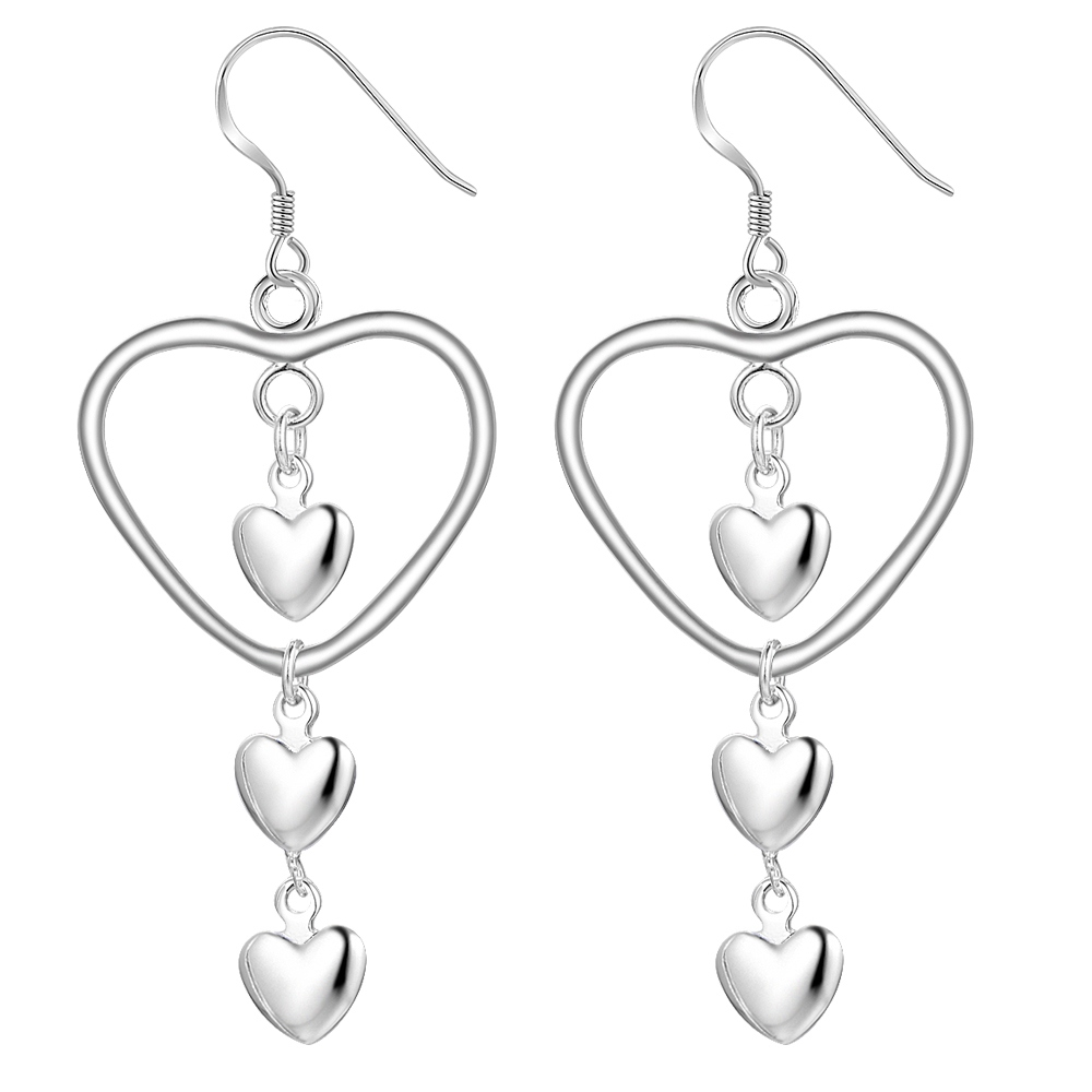 love heart gift kind high quality Silver Earrings for women Wholesale silver earrings /OJHRYFMJ LPFIQMXQ
