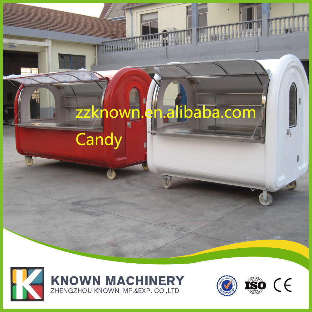 Street food cart Ice cream Venidng Cart mobile food kiosk for sale not including draw off equipment
