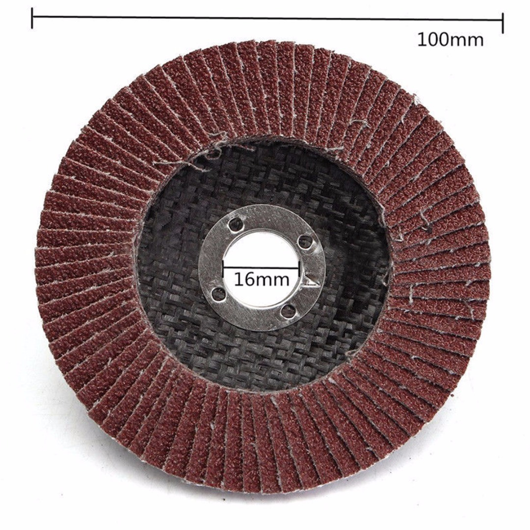 10pcs New Aluminum Oxide Flap Disc Sanding Grinding Wheels 100mm 60 80 120 Grit For Grit Angle Grinder Mayitr