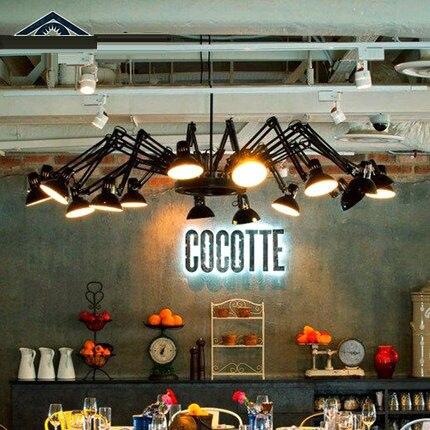 Винтажная Ретро черная белая Подвесная лампа паук E27 G80 AC 110/220 в, подвесные светильники, подвесные светильники для домашнего декора