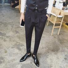 4a8c9ab7318f56 27-44 2017 Herenkapper slanke westerse stijl broek casual broek  herenkleding mode harembroek plus size Zanger kostuums