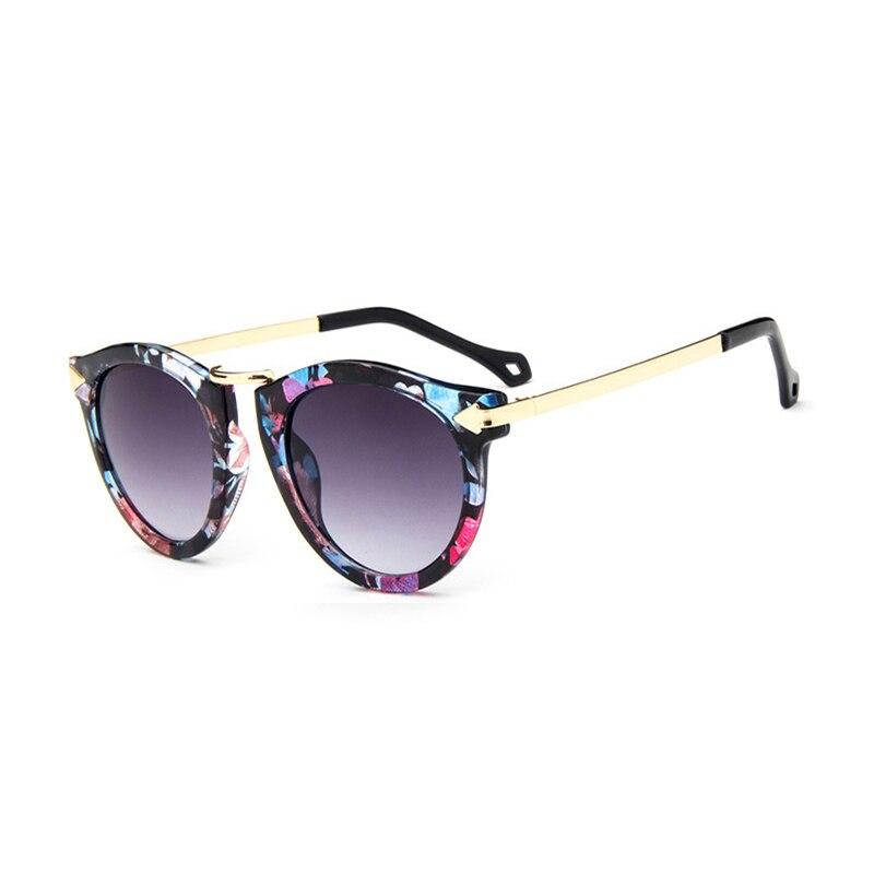 c963cd5c8f87 2018 novas Mulheres Revestimento Óculos De Sol Da Marca Designer Oculos  Gafas seta Do Vintage Rodada