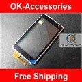 Черный Серебристый Цвет Сенсорного Экрана Digitizer Панель Для Nokia N8 С Рамкой 1 Шт./лот