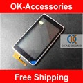 Black Silver Color Touch Screen Digitizer Panel For Nokia N8 With Frame 1PC/Lot