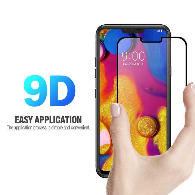 אופנה 9D 9 H מסך מגן טלפון מקרה עבור LG V30 V40 G7 מזג זכוכית מגן קדמי כיסוי עבור LG g5 G6 G7 אבזרים