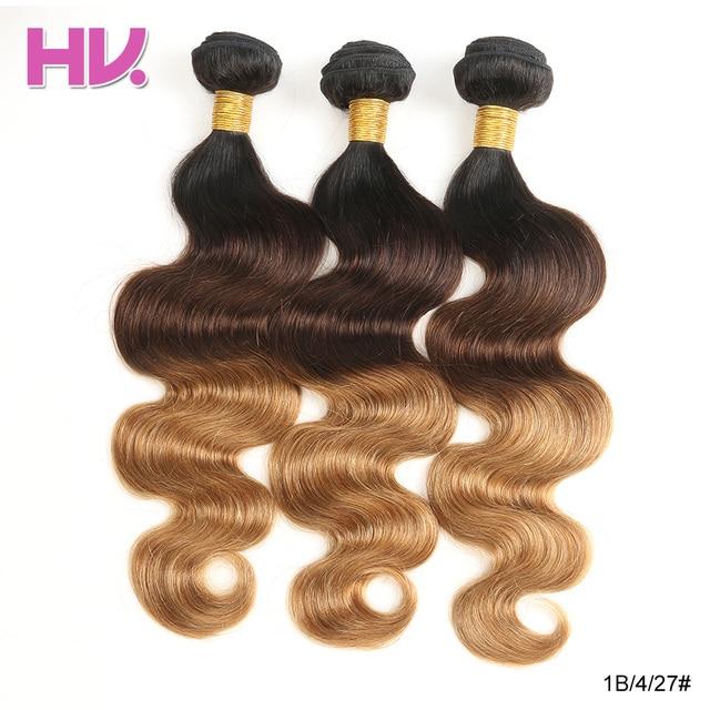 Hair Villa Ombre Remy Human Hair 1b427 Brazilian Body Wave Hair