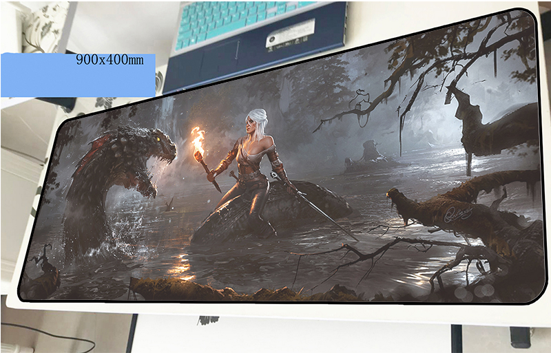 witcher mousepad 90x40cm hot sales gaming mouse pad gamer mat cute game computer desk padmouse keyboard