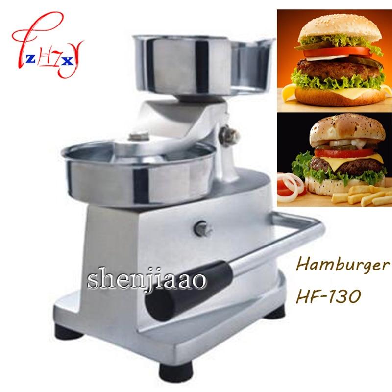 1 pc 130 MM acier inoxydable Burger imprimer HF-130 manuel Burger Patty fabricant, Hamburger moule, Burger presse Machine1 pc 130 MM acier inoxydable Burger imprimer HF-130 manuel Burger Patty fabricant, Hamburger moule, Burger presse Machine