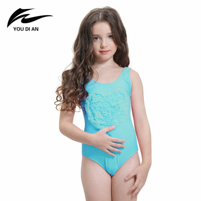 ce368702af304 Kids Swimwear girls bathing suit infantil swimsuit for girls bathers children  one piece Swimsuit lovely girl