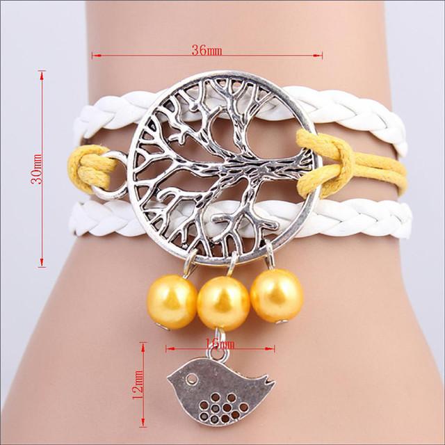 2017 Multilayer Braided Vintage Bracelets & Bangle