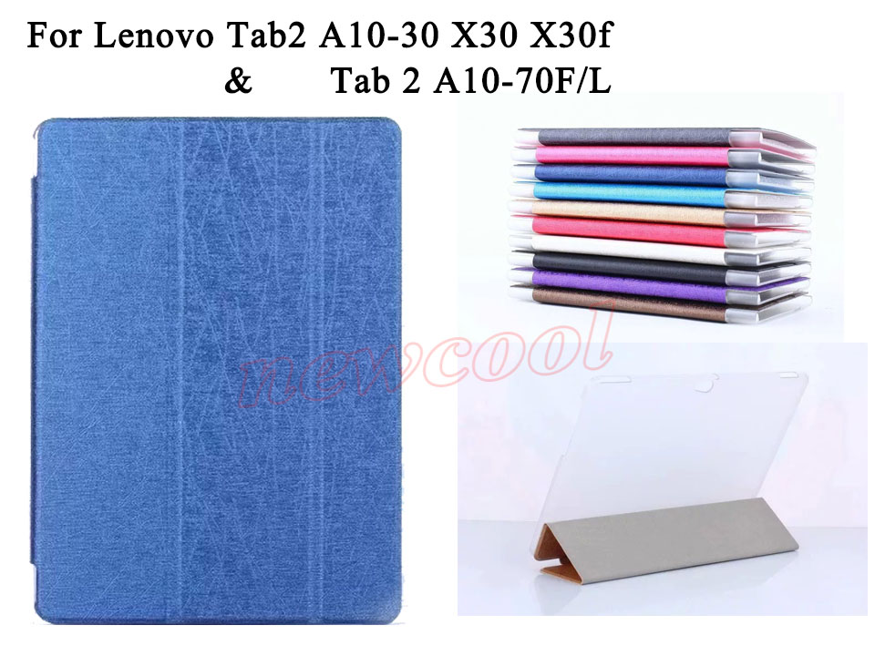 Tab 2 A10 30 Tablet Case Magnet PU Leather Case Flip Cover For Lenovo Tab2 A10-30 X30 X30f A10-70f A10-70L Tablet Case