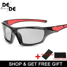 Photochromic Sunglasses Men Driving Polarized Sun Glasses Chameleon Driver Safety Night Vision Goggles