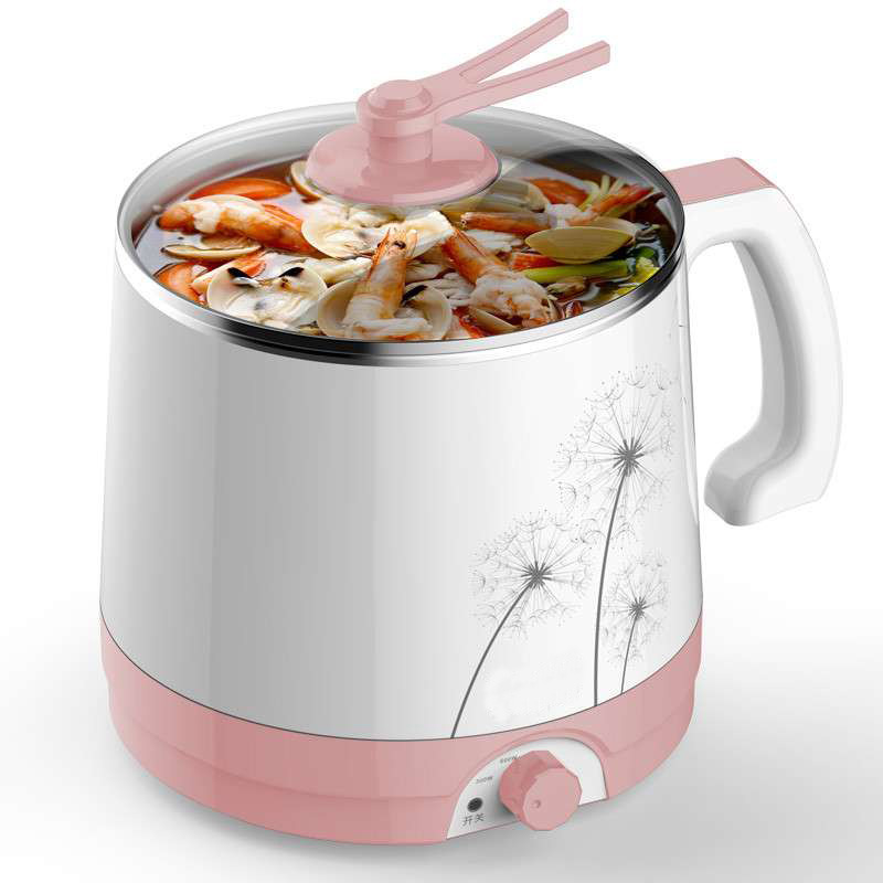 MA-18 1.8L Многофункциональный Электрический сковороде электрическое отопление чашки лапшу горшок маленький горшок с полимерным покрытием, сталь