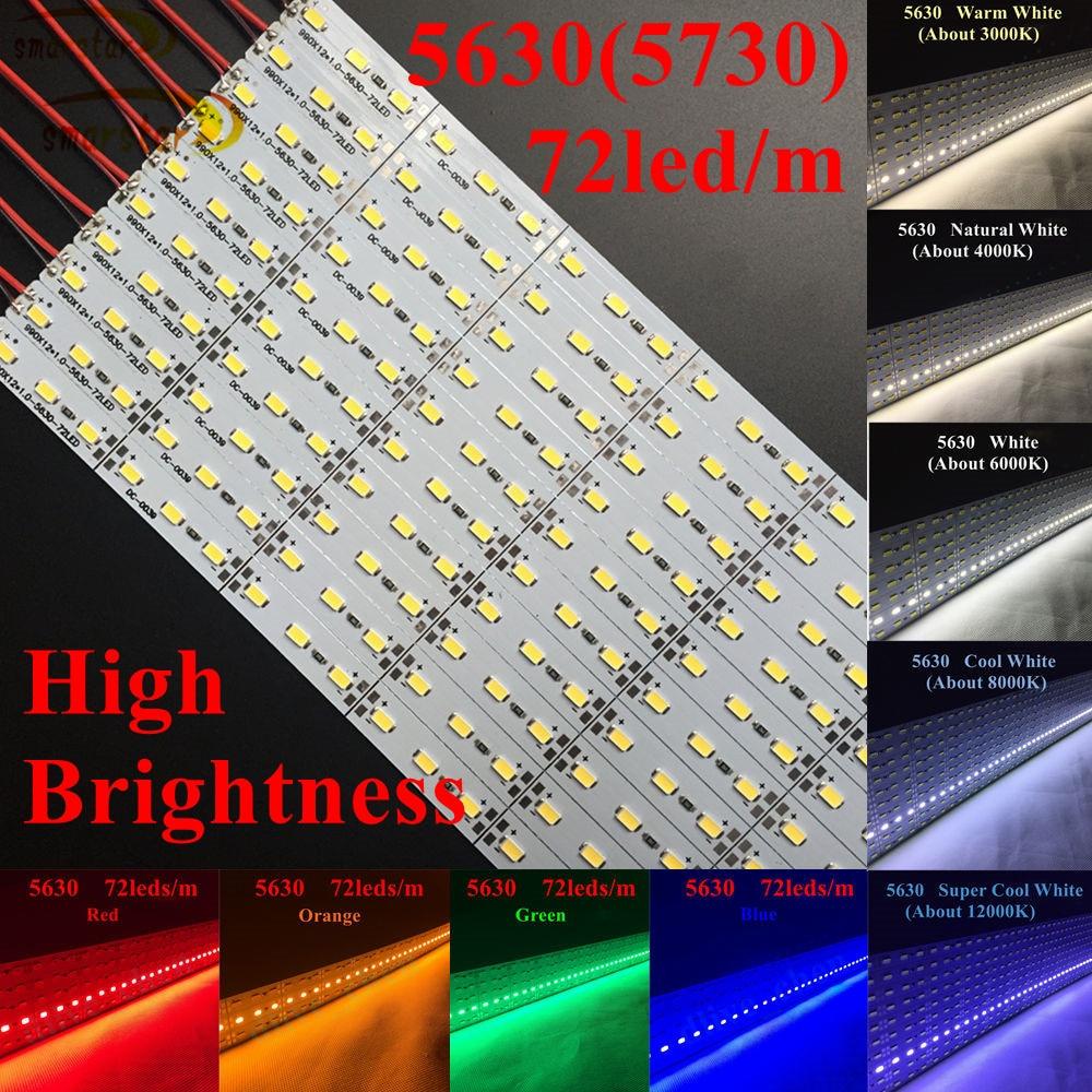 Us 68 79 10 Off Smarstar 1 M 5630 Hard Led Strip Lighting Dc 12 V 99 Cm 72 Leds 20 Watts Bar Light For Jewelry Counter Hotel Decoration Lamp In
