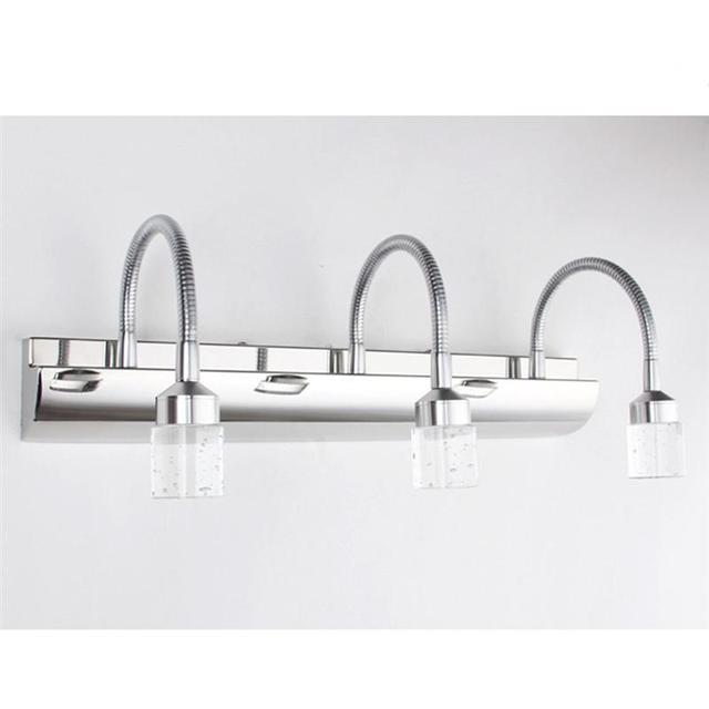 Crystal Bathroom Light Fixtures Stainless Steel Led Bath Vanity Wall  Sconces Light Home Decoration Dining Room Restaurant Light