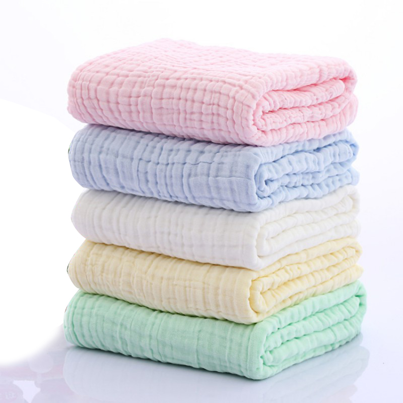 2018 New Blanket Newborn Infant Swaddle Printing Towel Non-fluorescent Six-layer Gauze Bath Towel Cotton