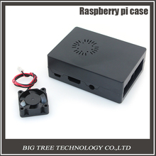 New Raspberry Pi ABS Black color case Plastic Box with Cooling Fan module For Raspberry Pi 2 & Raspberry Pi model b plus &3