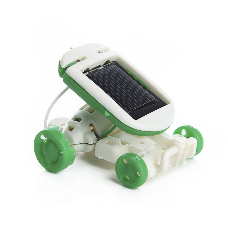 Creative 6-In-1 Power Solar Transformation Robot DIY Toy Solar Battery Powered Transform Educational Learning Gift for Kid Child