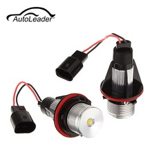 AutoLeader 7000k Car LED Angle Eyes Halo Xenon Marker Ring Light Bulb Canbus For BMW E39 E53 E60 E61 E63 E64 E65 E66 X5