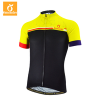 EMONDER Cycling Jersey 2019 Pro Team Men Summer MTB Road Bike Jersey Breathable Cozy Bicycle DH Jersey Cycling Clothing Yellow