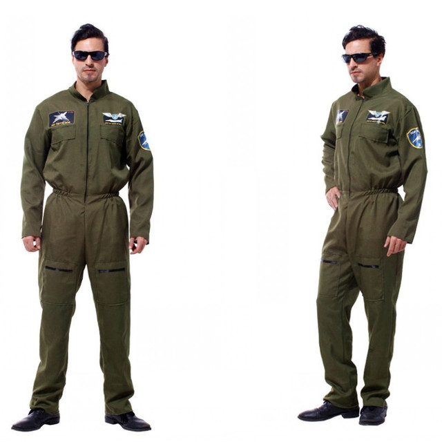 Men Pilot Aviator Cosplay Halloween Policeman Special forces Costumes Easter Purim Carnival Masquerade Party Camouflage dress  sc 1 st  AliExpress.com : aviator halloween costume  - Germanpascual.Com