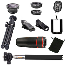 10 in 1 Phone Camera Accessories Lens Top Travel Kit For