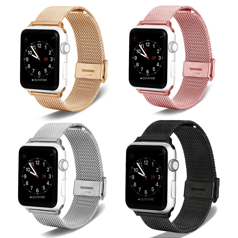 For Milanese Apple Watch Band 38/40 42/44  Stainless Steel Strap  Replacement Bracelet Iwatch Metal Strap Band Series 1 2 3 4