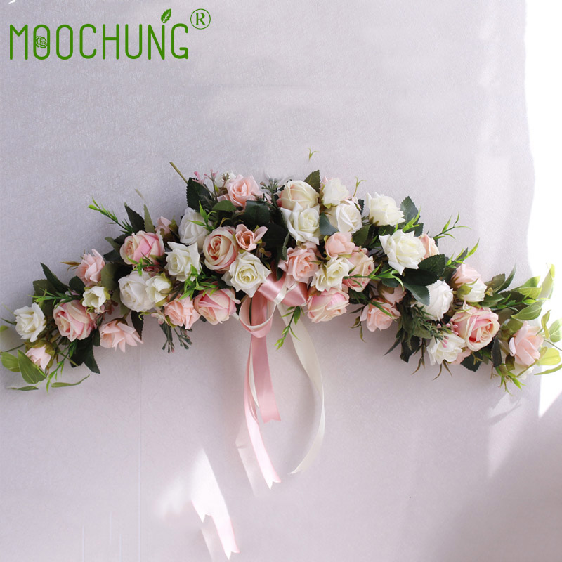 Artificial Rose Flower Door Ornaments Home Party Garden Wedding Decorated Garland Flowers Wreath Lintel Decoration 60CM MOOCHUNGArtificial Rose Flower Door Ornaments Home Party Garden Wedding Decorated Garland Flowers Wreath Lintel Decoration 60CM MOOCHUNG